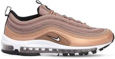 NIKE, Air max 97 sneakers, Desert dust, Luisaviaroma - Inspired by the original 1997 Air Max sneaker. Air Max 97, Nike Air Max, Pink Sneakers, Air Max Sneakers, Sneakers Nike, Nike Trainers, Light Blue, Gucci, Bronze