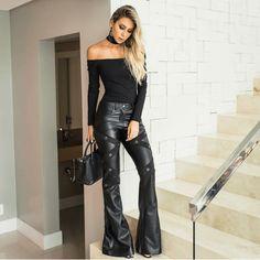 Pvc Fashion, Leather Fashion, Ideias Fashion, Fashion Outfits, Womens Fashion, Leather Trousers, Leather Leggings, Cyberpunk Fashion, Leather Dresses