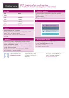 SBAR: Antiplatelets Reference Cheat Sheet by Davidpol http://www.cheatography.com/davidpol/cheat-sheets/sbar-antiplatelets-reference/ #cheatsheet #nursing #medical #nurse #snf #medication #sbar #antiplatelets
