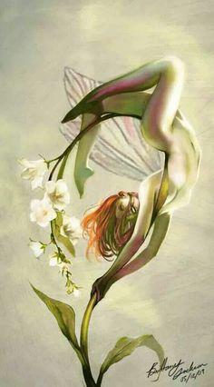 "mignonne-allons-voir-si-la-rose: "" ""Perfumes are the feeling.- mignonne-allons-voir-si-la-rose: "" ""Perfumes are the feelings of flowers.""… mignonne-allons-voir-si-la-rose: "" ""Perfumes are the feelings of flowers. Illusion Kunst, Illusion Art, Fantasy Creatures, Mythical Creatures, Fairy Pictures, Beautiful Fairies, Fairy Art, Faeries, Character Art"