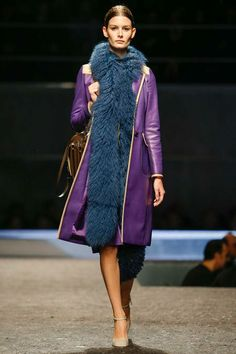 i want this purple coat! something for the ladies at Prada  Fall 2014 Menswear Collection | Style.com
