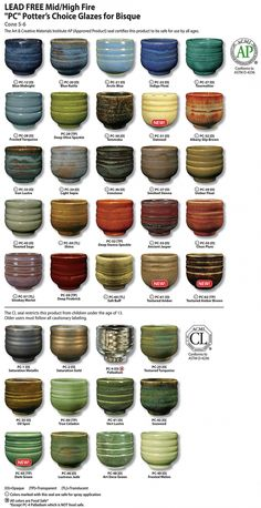 AMACO Shopping - Purchase High Fire (Cone 5-6) Glazes Potters Choice High Fire (Cone 5-6) Glazes -- Lead Free products and accessories online at AMACO.com!