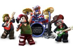 Lego Mini Figures Rock Band