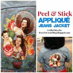 supa méga géniale idée pour mon cache-poussière en jeans (cave) > broder des images vintage et les appliquer!