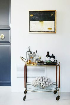 belly up to the bar cart by caitlin mccarthy design / sfgirlbybay