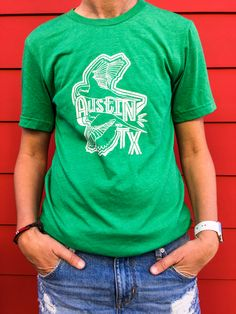 b6ca3d46 Quaker Parrots ATX Unisex Tee made by Gusto Graphic Tees on Roots and  Revival! 10