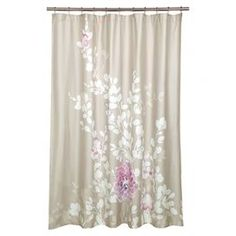 Add a soft, romantic touch to your bathroom decor wtih the Kaleah Shower Curtain. White botanical with gorgeous pink floral accents decorate this taupe shower curtain for a lovely addition to your space. Extra Long Shower Curtain, Cool Shower Curtains, Floral Shower Curtains, Bathroom Curtains, My New Room, Unique Home Decor, Cozy House, Home Accessories, Modern Furniture