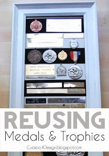 DIY project: What to do with old trophies and awards? #reusingoldtrophies #recyclingmedals