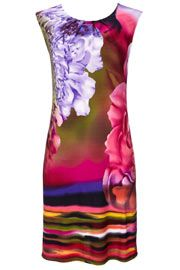 Perfect for this warm weather, this gorgeous pink floral and stripe dress can be warm all day every day!