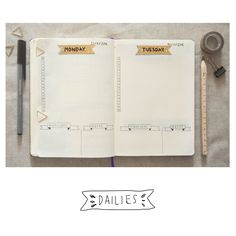 Some Bullet Journal inspiration and layout ideas. This time: Monday blues. #bulletjournal #ideas #layout #inspiration