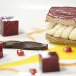 Pressure Test: Pomegranate Eclair with Peanut Butter Ice Cream, Pomegranate Jellies and Pliable Chocolate | MasterChef SA 2013