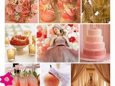 Decoración para bodas, color terracota, salmón
