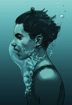 Image result for head underwater