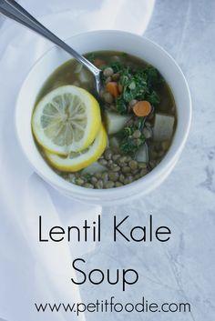 Lentil Kale Soup www.petitfoodie.com