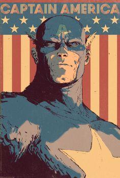 Captain America by Dave Rapoza