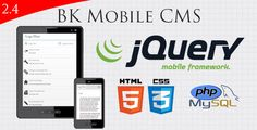 jquery Mobile Website With Full Admin Panel   http://codecanyon.net/item/jquery-mobile-website-with-full-admin-panel/2441358?ref=damiamio      Demo Here: Demo Version 2.4 Admin Panel Demo Here: Admin Panel Demo Version 2.4  June 15th, 2014 Version 2.4 has been approved!  Changelog  -New screenshots added to reflect the new version. Live demo is also updated with latest version.  -Documentation updated to reflect changes with version 2.4  -The entire frontend and backend of the system has…