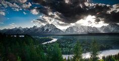 Teton Range, Wyoming  The most iconic mountains in the West rise higher than 10,000 feet above the floor of Jackson Hole, home to the meandering Snake River and unforgettable vistas around every bend. South of Grand Teton National Park is the world-class skiing mecca Jackson Hole Mountain Resort. Brad Beck/TandemStock