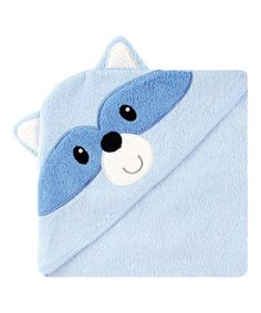 Look what I found on #zulily! Blue Racoon Face Hooded Towel #zulilyfinds