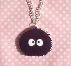 Super cute Soot Sprite necklace sold by Kawaii Store. Shop more products from Kawaii Store on Storenvy, the home of independent small businesses all over the world. Diy Shrink Plastic, Shrink Paper, Shrink Art, Totoro, Kawaii Store, Laser Cut Acrylic, Shrinky Dinks, Paper Jewelry, Bijoux Diy