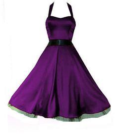 I love this full flared skirted dress
