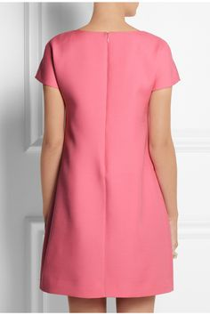 Valentino Wool and Silk Blend Mini Dress in Pink | Lyst