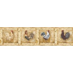 York, Border Portfolio collection, Pattern: Rooster ideas in mind for craft projects ...
