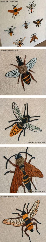 YUMIKO HIGUCHI - Bee embroidery by krochetokikai