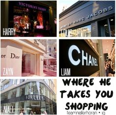 One Direction Preference Where He Takes You Shopping Niall always gets me