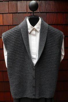 Mari Sweaters MS 196 Classic Shawl Collar Vest