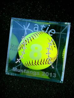 Personalized Softball Gameball Cube with by Myroxpaperscissors, $29.99