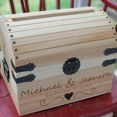 Wedding Card Box treasure chest Extra Large with by naturallyaspen, $109.00