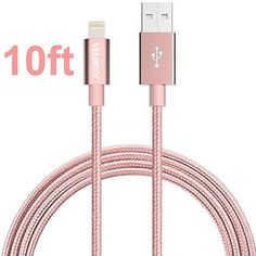 Best deal on Lightning Cable, JOOMFEEN Nylon Braided Extra Long 10ft USB Syncing and Charging Cable Cord Charger for Apple iPhone se/7/7 plus/6 plus/6s plus/6/6s/5/5S/5C, iPad 4, iPad Air 1/2, iPad Mini, iPod discover this and many other bargains in Crazy by Deals, we bring daily the best discounts for you