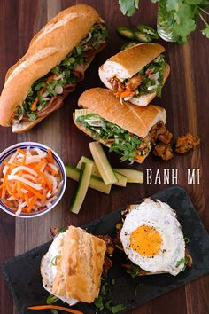 """Hi guys! Today I'm going to teach you, """"How to build your own banh mi""""! Banh Mi is Vietnamese style sandwich, that has lots of veggies, flavors and textures! By changing…"""
