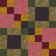 Sew Four Square, Another Pattern in My Easy Quilt Block Series: Learn How to Make Four Square Quilt Blocks
