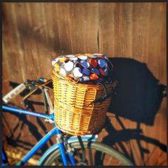 lukola handmade // Wodoszczelny worek do koszyka rowerowego 2 w 1 // Waterproof Bike Basket Sack - 2 in 1