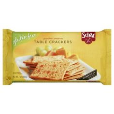Schar Naturally Gluten-Free Table Crackers, 7-Ounce Packages (Pack of 6)