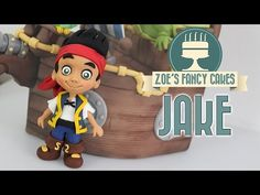 how to make parrot SKULLY jake and the never land pirates cake tutorial pasta di zucchero pappagallo - YouTube