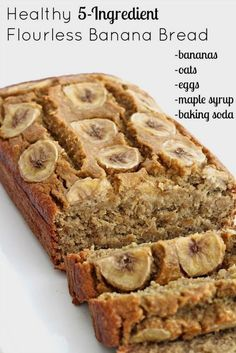 Healthy 5-Ingredient Flourless Banana Bread : I will mix oat flour with buckwheat or chickpea flour for a bit of protein