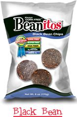 Beanitos. Beanitos are lab tested and certified to be low glycemic! Beanitos Black Bean Chips have a GI (glycemic index) of 33 and GL (glycemic load) of 3. corn free, gluten free, wheat free.