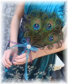 Something like this instead of flowers.  Ostrich and pheasant feathers would be more me.