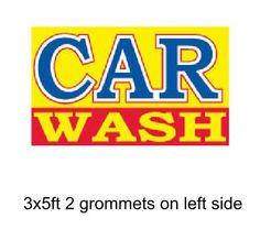 CAR WASH 3x5 ft Banner Advertising Business Sign Flag - CAR WASH