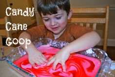 Candy Cane Goop.  PIn this site. 25 Winter Activities for Kids in 25 Days!