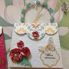Handbag or purse card