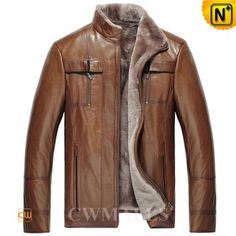 brown shearling lined jacket