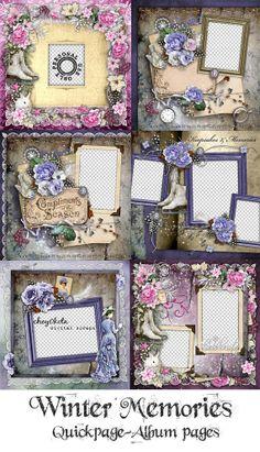 Winter Memories Album Quikpage Set of 6 - Digital Scrapbooking