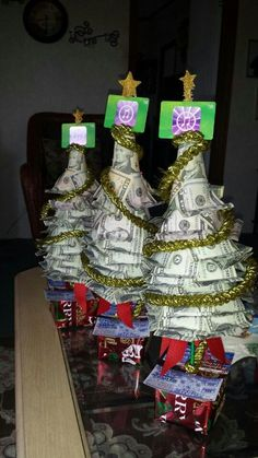 Money doesn't grow on trees, true, but a tree can be made by money! The icing on the cake is when you have gift boxes that have lottery tickets!