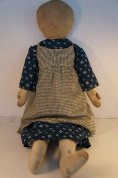 "24"" antique rag doll great hands and feet 1890"