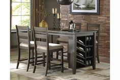 Rokane Counter Height Dining Room Table | Ashley Furniture HomeStore