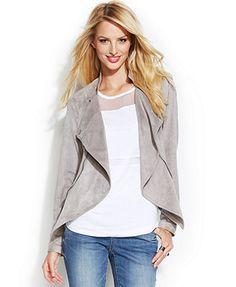 INC International Concepts Long-Sleeve Drape-Front Jacket
