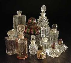 Eleven Small Perfume Bottles of Various Age
